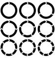 set circular infographics with arrows vector image