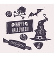 set halloween badges vector image vector image