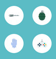 set of gaming icons flat style symbols with vector image vector image