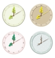Set of seasonal clock summer autumn winter and vector image