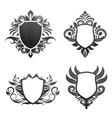 shield-ornament-set vector image vector image