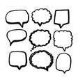 speech bubble icon hand drawn vector image