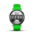 Sport Smart watch with time and football ball vector image