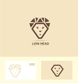 Stylized lion head logo vector image