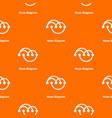 venn diagramm pattern orange vector image vector image