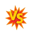 Versus letters or vs logo emblem on vector image vector image