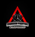 warrior fighting championship logo symbol icon vector image vector image
