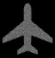 white pixelated air plane icon vector image vector image
