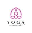 yoga pose logo vector image