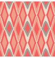 Abstract tribal art ethnic seamless Ikat pattern vector image