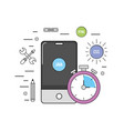 smartphone with web code programming software vector image