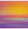 Vintage background with sunset Abstract vector image
