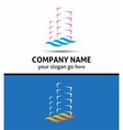 Abstract office building logo real estate icon vector image vector image