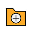 add folder flat icon vector image