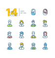 ages - set line design style icons vector image vector image