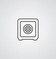 bank safe outline symbol dark on white background vector image