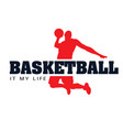 basketball it my life basketman background vector image