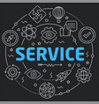 black line flat circle service vector image vector image