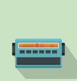 blue fm radio icon flat style vector image