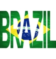 Brasil 2014 Letters with Brazilian Flag vector image