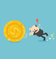 business concept businessman missed his fall and vector image