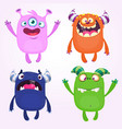 cartoon monsters set for halloween vector image vector image