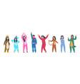 characters in pajamas cartoon men and women vector image