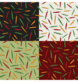 chili pepper patterns vector image