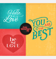 Colorful Valentines Day Typography Design Elements vector image