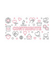 contribute concept simple horizontal vector image vector image