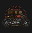 custom motorcycle vintage badge vector image vector image