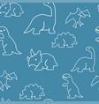 dinosaur pattern seamless vector image
