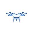 drone line icon concept drone flat symbol vector image vector image