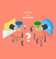 e-mail vs messenger marketing isometric vector image