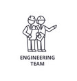 engineering team line icon sign vector image vector image