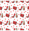 fashion seamless pattern vector image vector image
