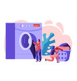 female characters in public laundry vector image