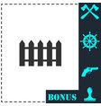 fence icon flat vector image vector image