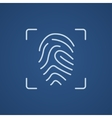 Fingerprint scanning line icon vector image vector image