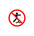 forbidden scooters icon can be used for web logo vector image vector image