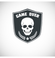 Game over symbol with skull vector image vector image