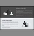 geometrical figures banners vector image vector image