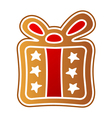 gingerbread gift vector image vector image