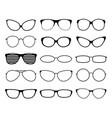 glasses silhouettes fashion sunglasses frames vector image