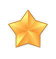 gold star isolated vector image vector image