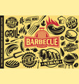 grill and barbecue symbols iconslabelslogos vector image