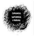 Grunge white sponge frame Textured vector image vector image