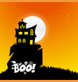 halloween boo design with typography vector image vector image