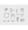 hand drawn doodle style elements isolated on vector image vector image