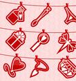 Hanging Love Symbols vector image vector image